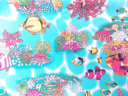 Tropical fish Print 100% Cotton Fabric